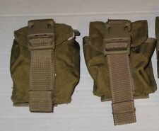 Lot of 2 Army Military Surplus MOLLE Coyote Tan Frag Grenade Pouch MARSOC VG