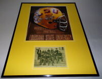 LSU Tigers Football Framed 16x20 Photo & 1905 Team Postcard Display