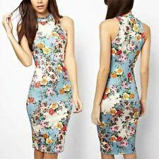 blue high neck dress size 12