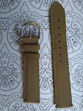 BRACELET  DE MONTRE watch band cuir et synthétique  / marron beige  18mm  / GZ