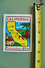 New listing California Summer Surf Surfing V12 Vintage 1960's Water Transfer Window Decal