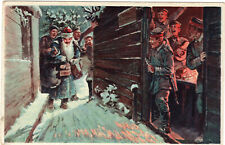 AK Weihnachtsmann bringt Soldaten Geschenke 1918 Feldpost RIR 256 Militär 1.WK