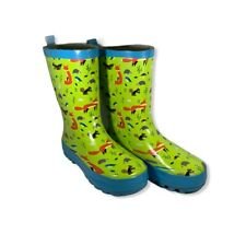 Kid Made Modern Kids Boys Toddlers Forest Friends Garden Rain Boots Size L 9/10