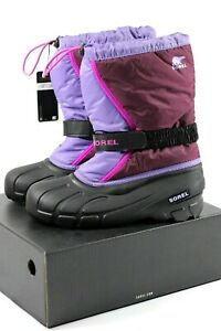 Sorel Unisex Youth & Adult Flurry' Snow Boot Purple Dahlia, Paisley Purple 6 UK