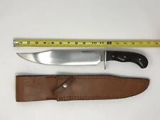 Paul INMAN Custom Large Bowie Knife With Leather Sheath