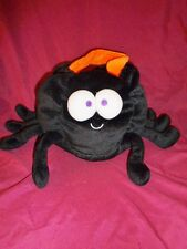 Halloween Spider Black Bean Bag Plush trick or treat basket le top with sound