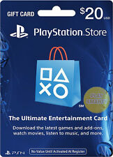 US $20 PLAYSTATION NETWORK 20 USD Prepaid Card PSN for PS3 PS4 PSP Gift KEY