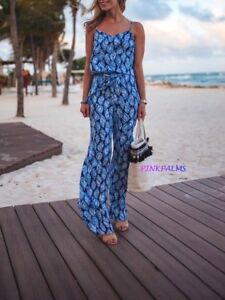 NWT LILLY PULITZER DUSK JUMPSUIT HIGH TIDE NAVY DROP IN NAVY XL