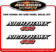 1985 HONDA 450 NIGHTHAWK SIDE PANEL DECAL SET reproductions 550
