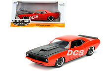 JADA BIG TIME MUSCLE 1973 PLYMOUTH BARRACUDA ORANGE 1/24 DIECAST CAR 98236