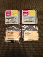 PREISER HO SCALE SARRASANI KIT #601 & #602 CIRCUS CARAVAN & SUPPLY WAGON UNUSED