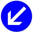Carretera signos (Mantener Left) - ORIGINAL Imán de NEVERA - NUEVO