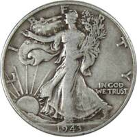 1943 Liberty Walking Half Dollar VG Very Good 90% Silver 50c US Coin Collectible