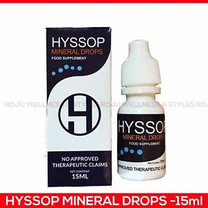 Hyssop Mineral Drops 15ml (For Eyes & Ears). FDA Approved.100% Authentic