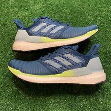 Adidas Solar Boost Running Shoes Marine Blue Yellow B96286 Men Size 10.5 New
