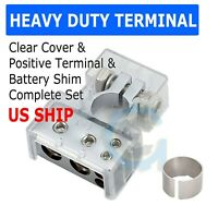 Car Boat Battery Terminal Connector Top Positive Negative Heavy Duty Universal