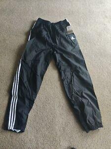 Old school Adidas Windbreaker Lined Pants Black/White Men's Large