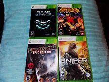 4X LOT Dead Space 2,SNIPER GHOST WARRIOR,DUKE NUKEM,BULLETSTORM EPIC Xbox 360