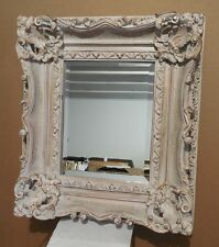 """Large Louis XV Wood/Resin """"26x30"""" Rectangle Beveled Framed Wall Mirror"""