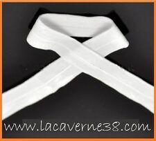20 m élastique souple blanc 20 mm couture mercerie lingerie doux