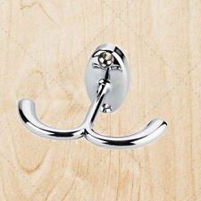 Double Ceiling Robe Hook Coat Hat Polished Chrome Closet Organizer  chrh4