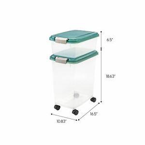 Airtight Pet Food & Treat Storage Container IRIS USA Combo Green