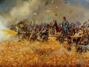 Mark Maritato Signed Civil War Art Print The Boy Major Gettysburg CSA Artillery
