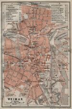 BAEDEKER 1900 old map ERFURT antique town city stadtplan Thuringia karte
