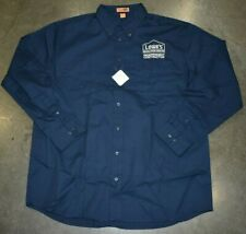 Lowes Independent Contractor Mens Button Down Shirt Blue Size XL New