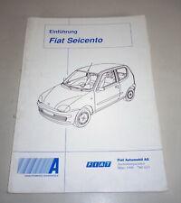 Schulungsunterlage Fiat Seicento de 03/1998