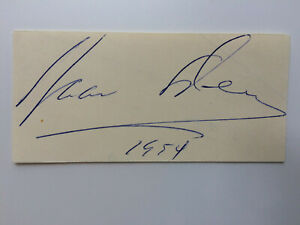 Isaac Stern - American Violinist - Original Hand Signed Autograph - 1954