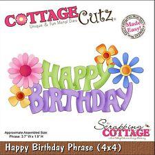COTTAGE CUTZ HAPPY BIRTHDAY PHRASE WITH FLOWERS CUTTING DIE - NEW