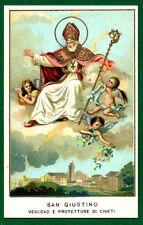 santino  - holy card SAN  GIUSTINO  santini