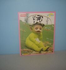 1998 Playskool Wood Puzzle Teleubbies #629-01 4 Pieces Dipsy in Cow Hat