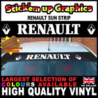 Renault Sun Strip Clio Megane Scenic Window Graphics Sticker Decal FREE SQUEEGE