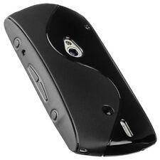 Protect Silikon Case für Sony Ericsson Xperia Neo Tasche Hülle schwarz black