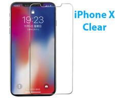 3 Pack CLEAR Screen Protector Guard Films for Apple iPhone X