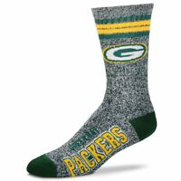 Green Bay Packers NFL Football Got Marbled Crew Socks - Large