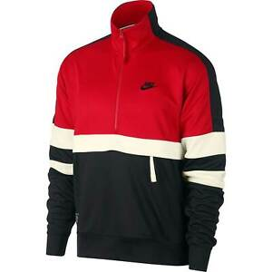 Nike Air Jacke Sportswear Halfzip Herren Sweatshirt Hoher Kragen Pullover Rot