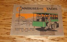 Original 1913 Mack & Saurer Omnibuses Sightseers Stages Sales Brochure 13