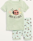 OLD NAVY GIRL TODDLER SNUG AS A BUG PAJAMA SET. SIZE 5T. NEW WITH TAG.