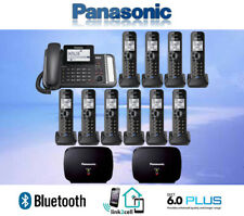PANASONIC KX-TG9582B 2-LINE LINK2CELL 1 CORDED PHONE 10 CORDLESS 2 REPEATERS