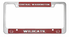 Central Washington University -Metal License Plate Frame-Red