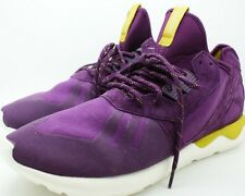 Adidas Original Tubular Runner K Men Round Toe Canvas Purple Running Shoe 13 NEW