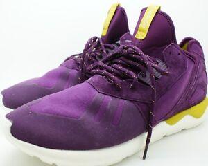 Adidas Original Tubular Runner K Men Round Toe Canvas Purple Running Shoe 13 NEW