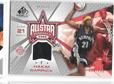 2006-07 SP Game Used All-Star Memorabilia Hakim Warrick Jersey #'d 036/100