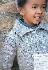 Boys Chunky Jacket / Top (age 4 -8 years) Knitting Pattern