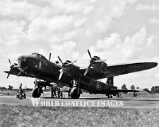 RAF WW2 Short Stirling Heavy Bomber With Ground Crew 8x10 Photo WWII