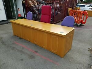 3 Person Court Style Desk Traditional Office Desk  FREE MANCHESTER DELIVERY