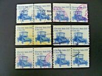 USA 1981 Lot of 6 #1906 Transportation Issue Coil Pairs Used - See Description